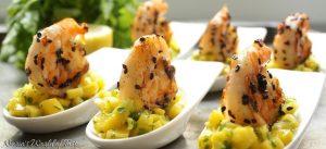 Mango & Herb Salad with Grilled Chilli Sesame Prawns